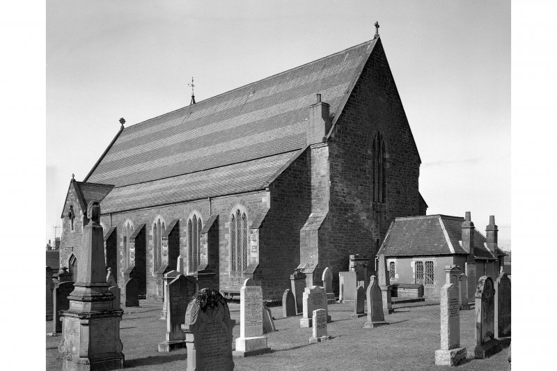 Coupar Angus Abbey. General view from south.