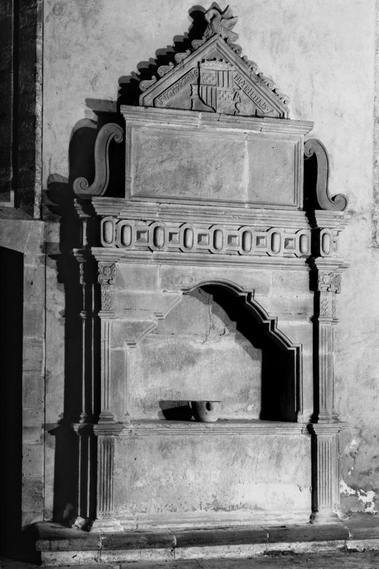Dunkeld, Dunkeld Cathedral. View of North wall of Atholl vault.