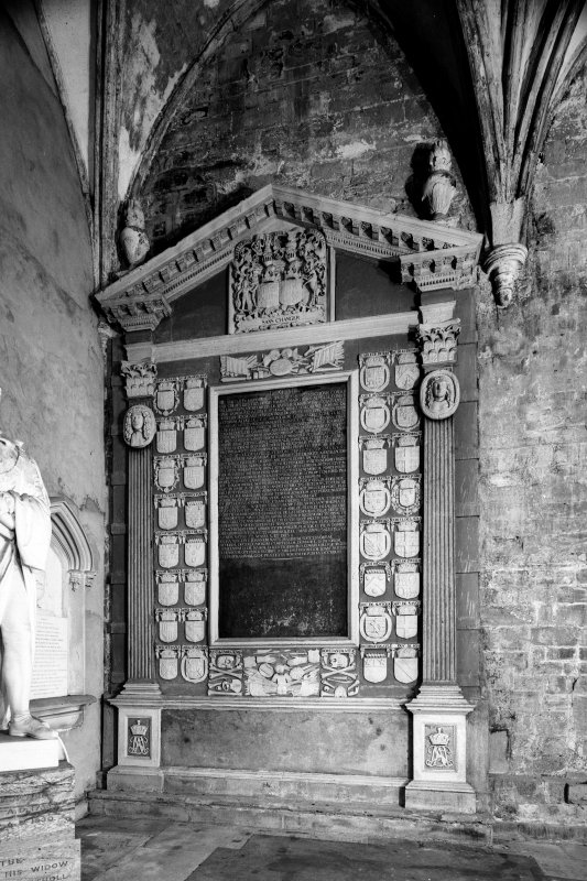 Dunkeld, Dunkeld Cathedral. View of monument to the Marquess of Atholl, d. 1703, South wall.