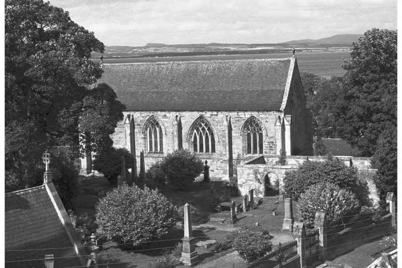 St. Duthus's Collegiate Church, Castle Brae. View from South East including graveyard.