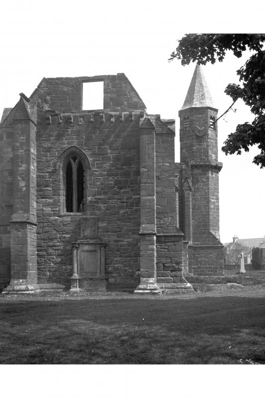 Fortrose Cathedral, Cathedral Square. View of West elevation.