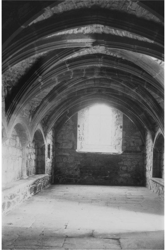 Fortrose Cathedral, Cathedral Square. View of Chapter House, undercroft.