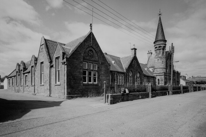 View of Cromarty Primary School and School House from South East