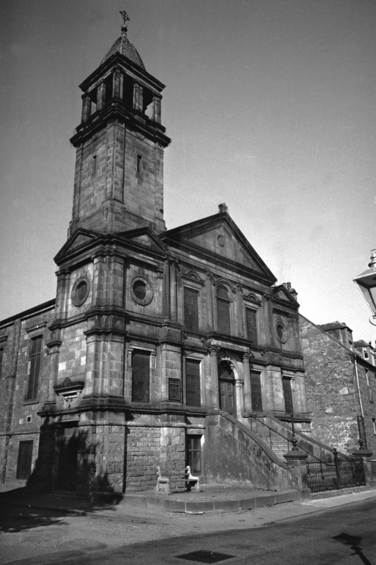 Scanned image of view of Queen Street Free Church. General view of exterior.