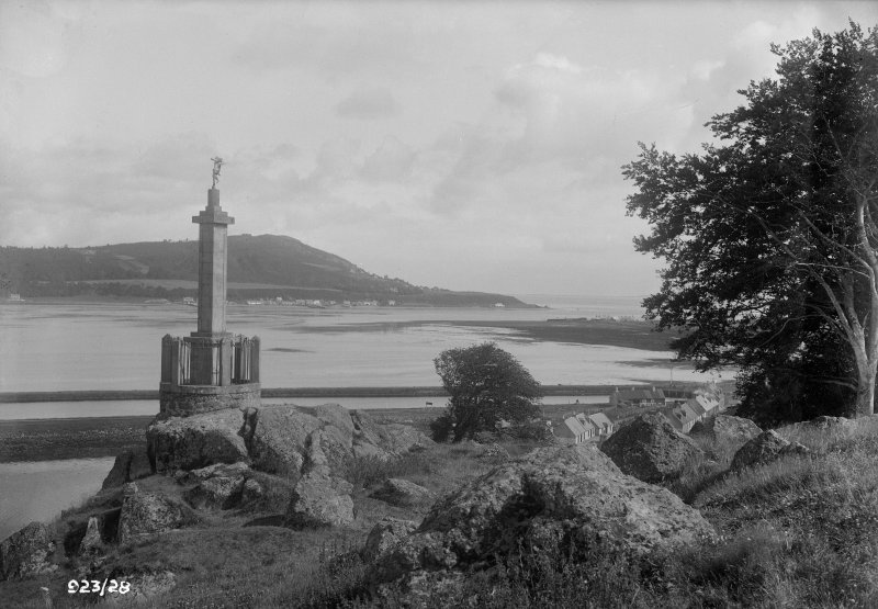 Clachnaharry Monument. General view, also showing Kessock Ferry.
