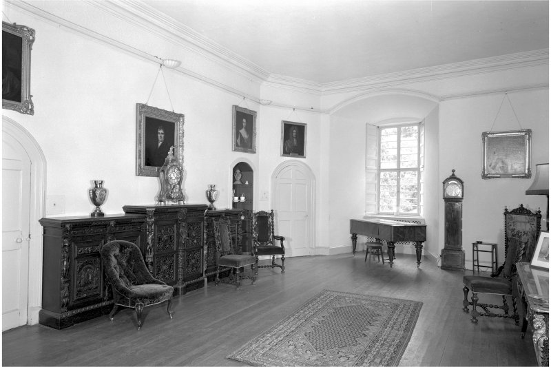 Castle Leod. Interior, general view of Dining Room.