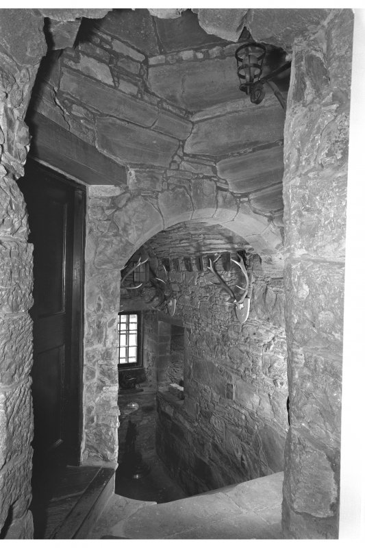 Castle Leod. Interior, general view of stairway.