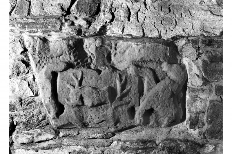Castle Leod. Detail of carving in hallway.