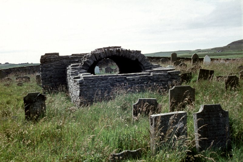 Crosskirk, Tuquoy. View of remains of church.