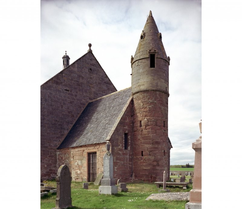 General view of burial aisle and tower