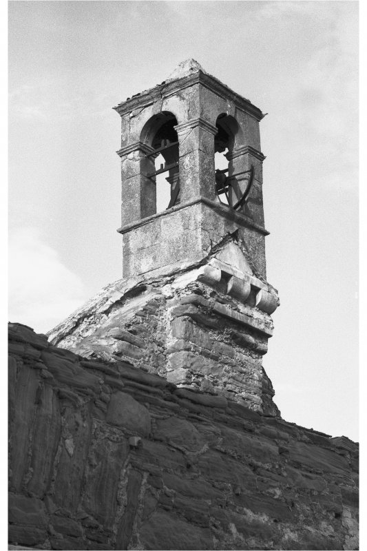Details of bellcote on West gable