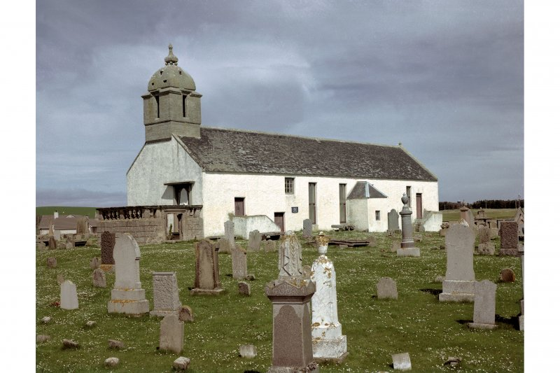 General view of Tarbat West Church and churchyard, Portmahomack,  where 9th Century carved stones were discovered.