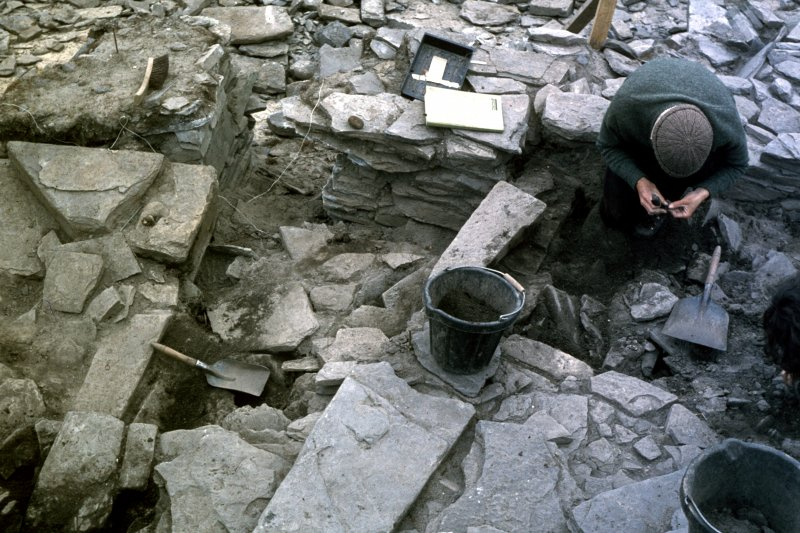 Crosskirk, Westray. Excavation.