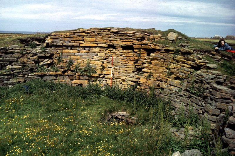 Broch of Burrian, North Ronaldsay. Interior view.
