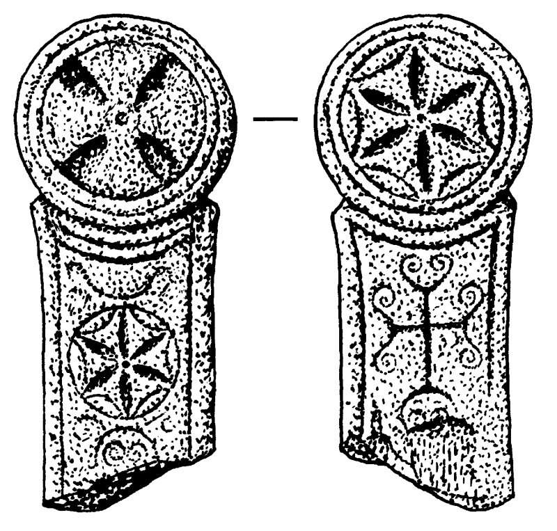 Front and reverse faces of cross-slab. Digital copy of DC 41404.