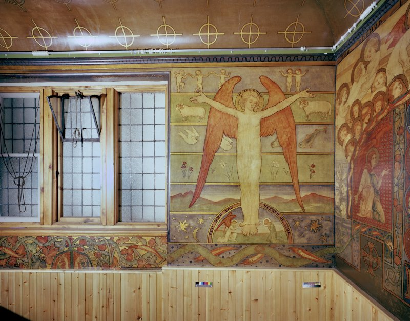 Detail of mural in Mortuary Chapel: West wall