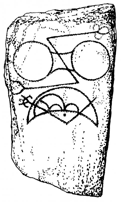 Pictish symbol stone.