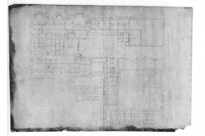 Plan of sunk floor.