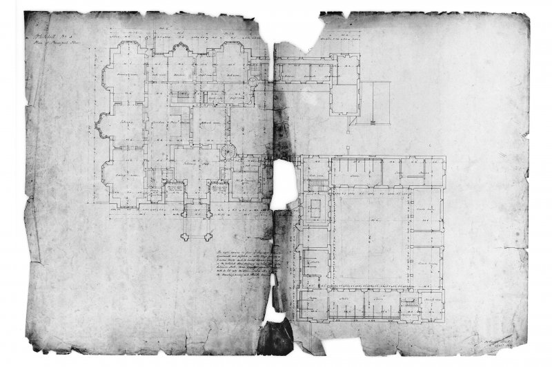 Plan of principal floor (in 2 pieces).