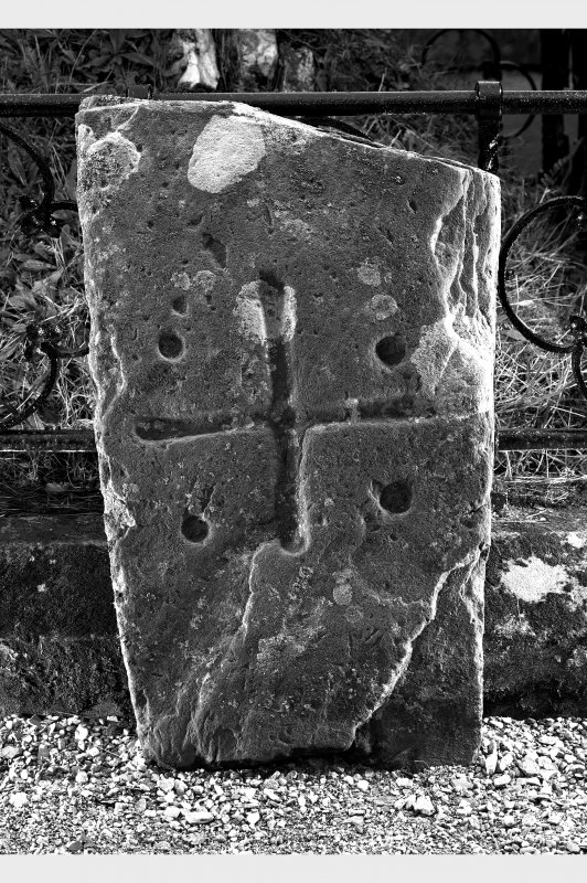 View of early christian cross marked stone no.2.