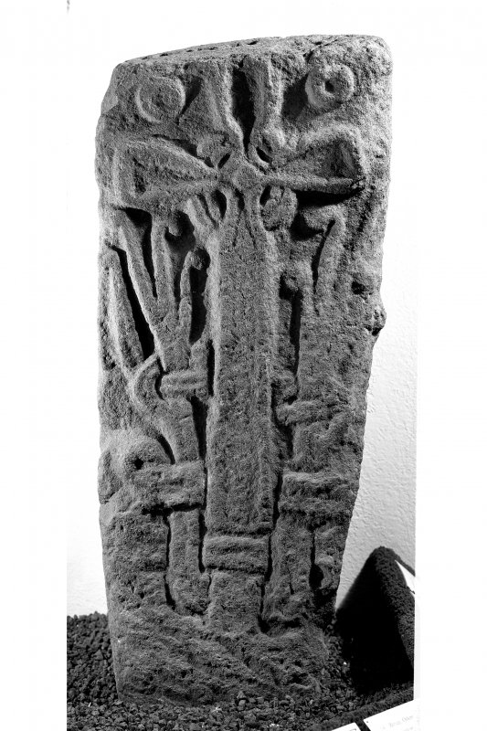 Cross-slab, Doid Mhairi, Port Ellen. View of Viking-age cross slab. Stone in National Museum of Scotland (IB 196).