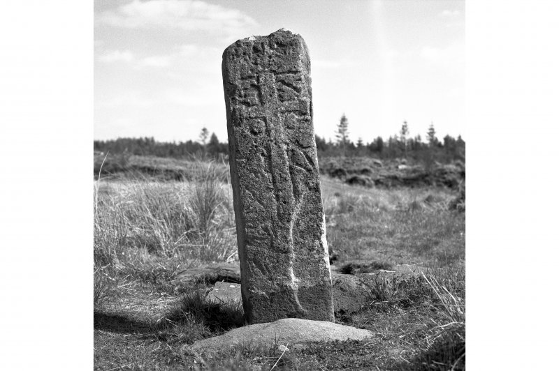 Kilmory Oib.  View of West face of cross.
