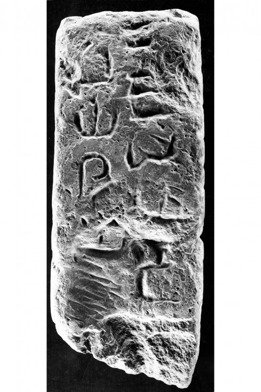 Inscribed stone, face 'b'.