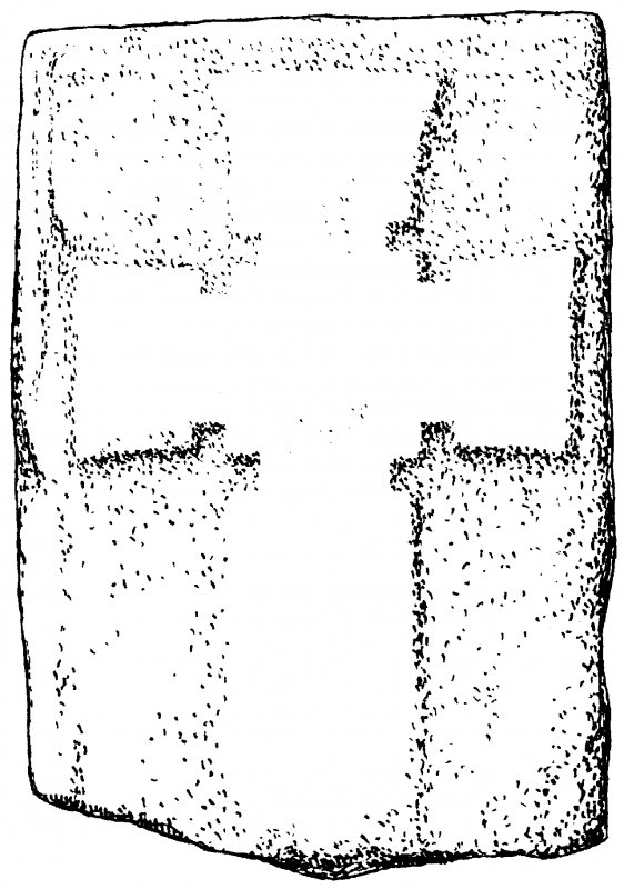 Iona, general. Plan showing Early Christian non-ringed relief cross No. 33