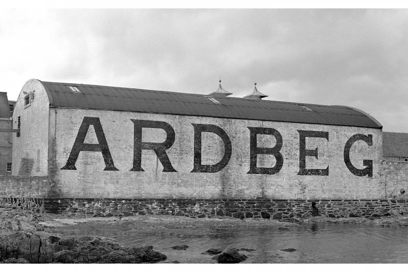 Detail of pier, Ardbeg Distillery.
