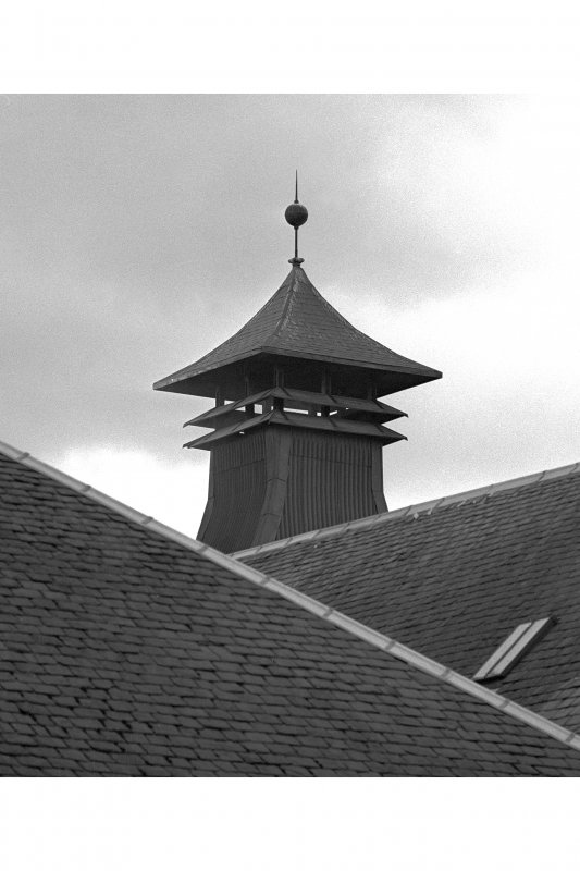 Ardbeg Distillery. View of 'Pagoda' vent at apex of kiln roof.