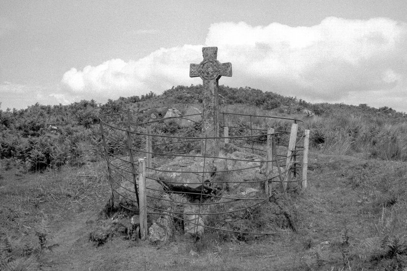 Kildalton Chapel, Cross General view of cross in burial ground