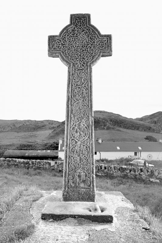 Late Medieval cross, Kilchoman Old Parish Church. View of West face of cross.