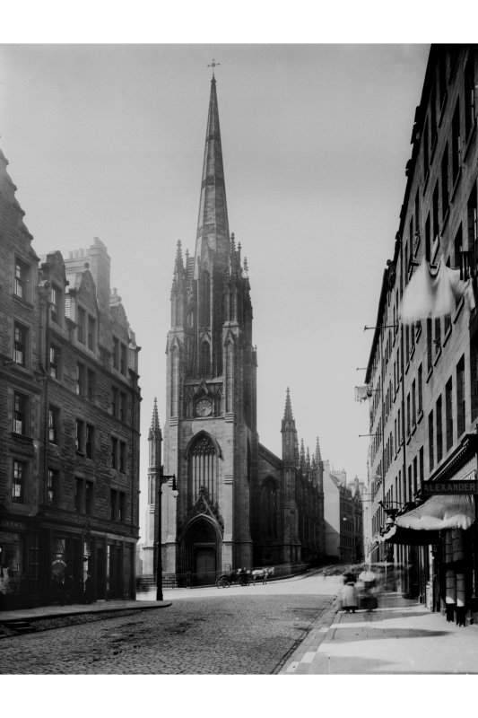 General view of Tolbooth St John's Church viewed from Lawnmarket