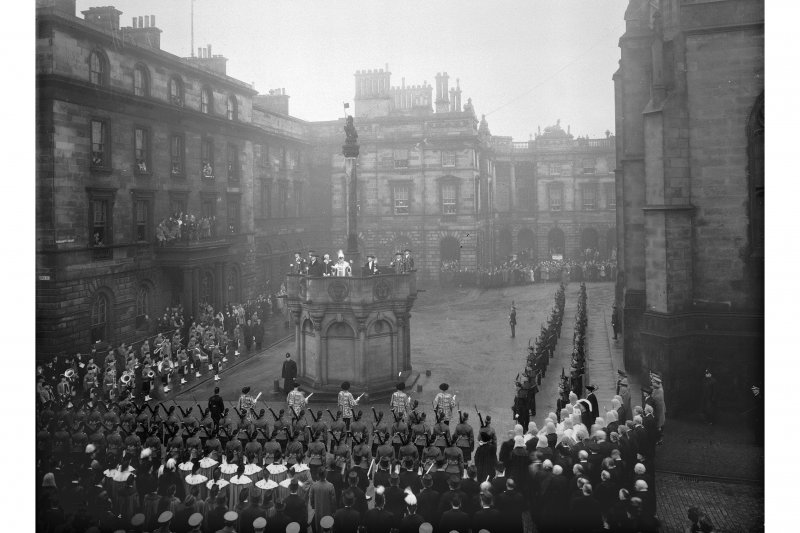 General view of ceremony at Market Cross