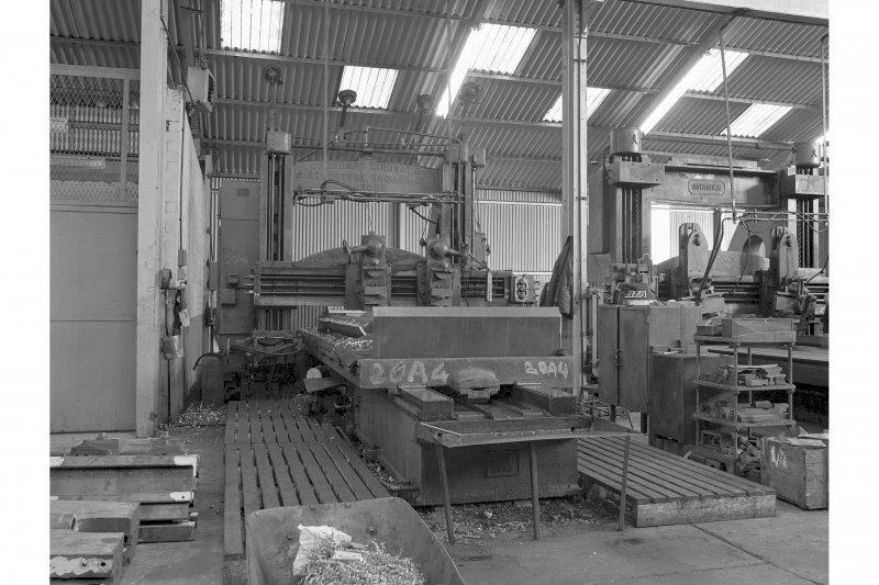 Kilbowie Ironworks Interior view of planer by Urquhart Lindsay and Robertson Orchar, Manlove Tullis, Clydebank