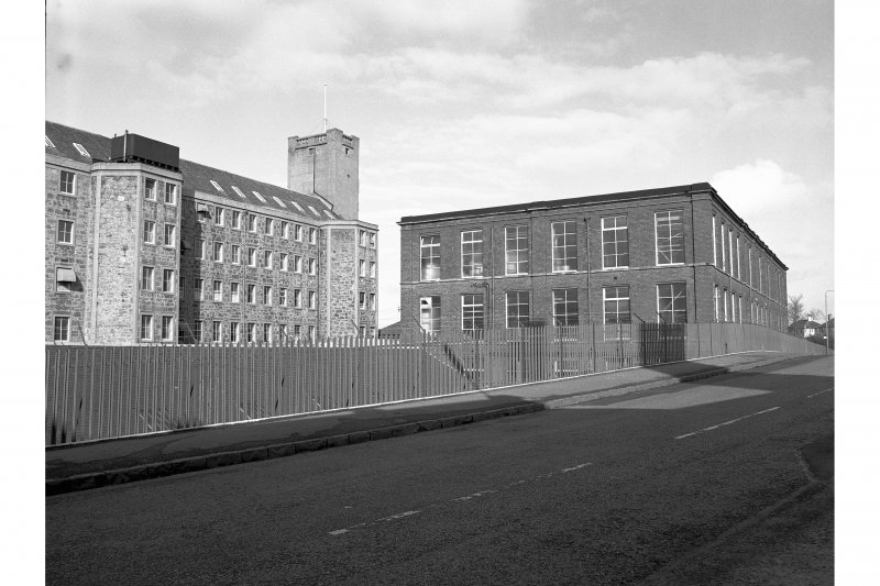 Johnstone, Kilbarchan Road, Cartside Mills View from W of old and new blocks