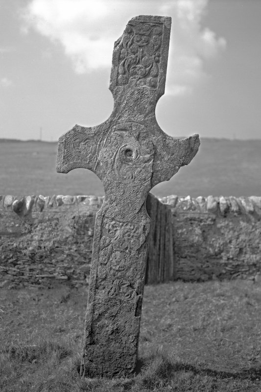 Cross, Kilnave Church, Kilnave. View from East.