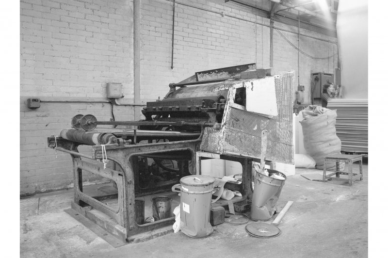 Shettleston, Amulree Street, interior View of printing machine in proofing department