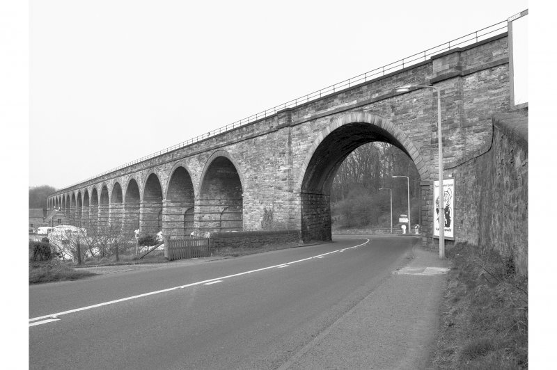 Newbattle Viaduct (Lothianbridge/South Esk Viaduct) General view from SE