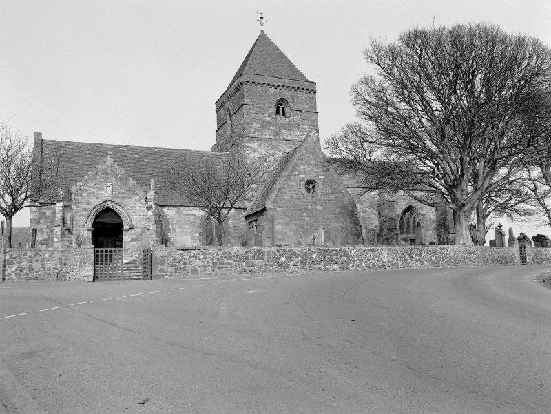 Whitekirk, Parish Church General view from S