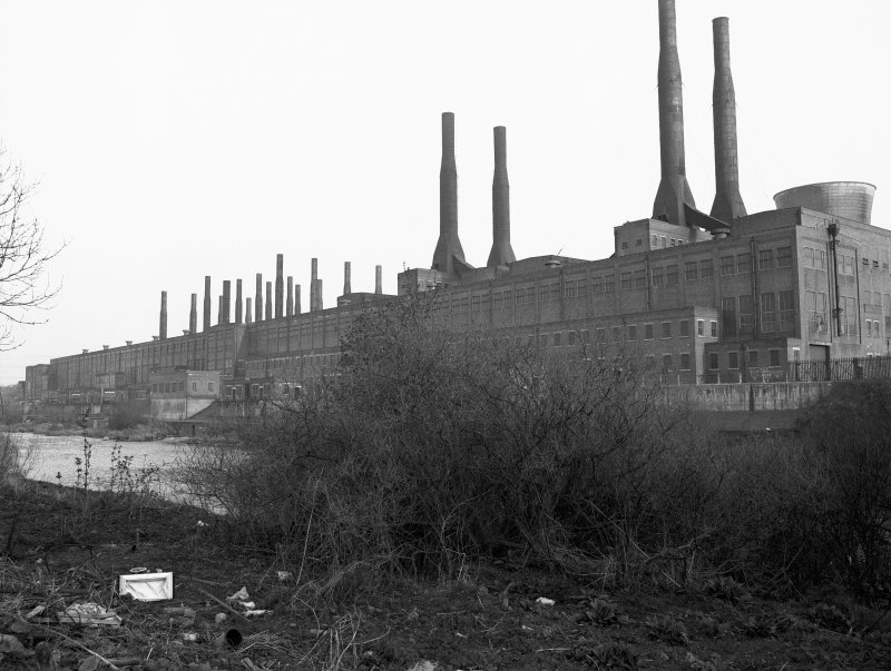 Glasgow, Clydesmill Power Station General view from WNW showing N front