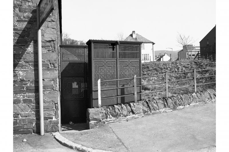 Walkerburn, Galashiels Road, Cast Iron Urinal View from W
