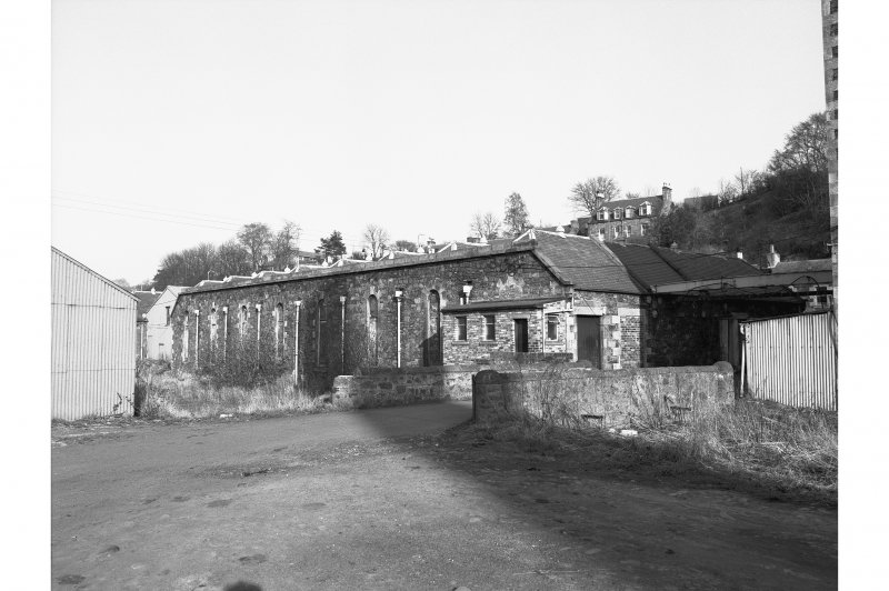 Ettrick Mill, weaving sheds View from W