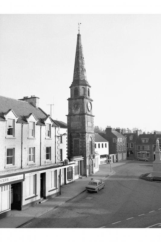 Selkirk, Market Place, Court House View from N