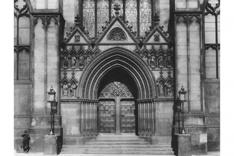Detail of West door.