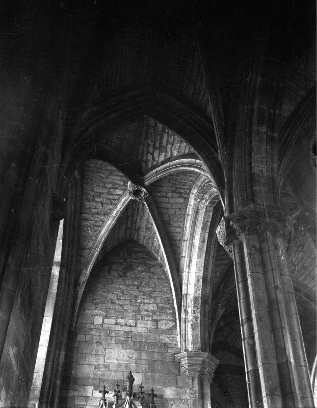 Interior. General view of vaulting in Albany Aisle