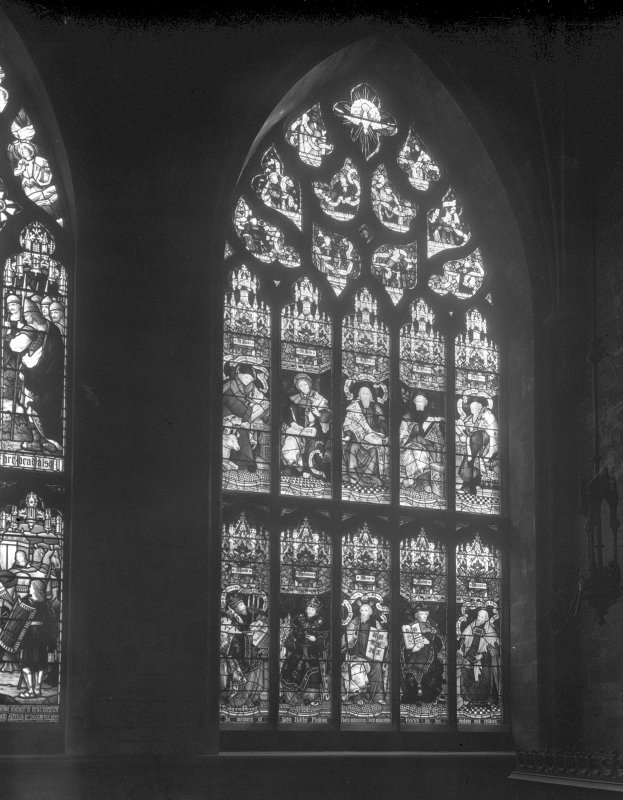 Interior-general view of stained glass window