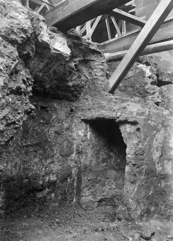 Interior. View of cellars discovered during excavations for the Thistle Chapel