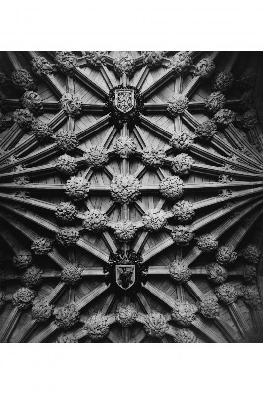 Interior-detail of roof in Thistle Chapel