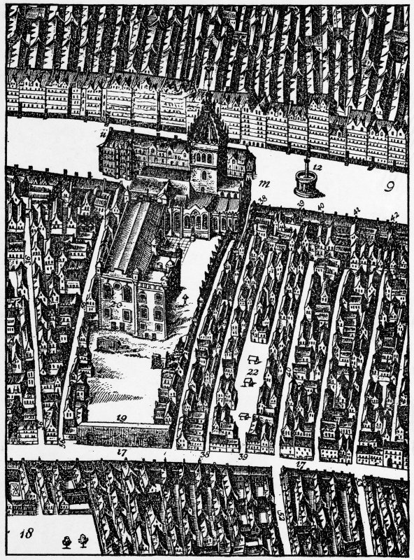 Old plan of High Street in 1647